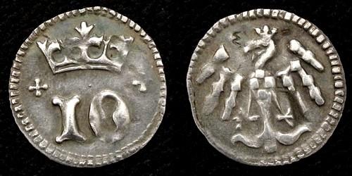 Denárový peníz stříbro 999 | Jošt Lucemburský (1375-1411) Morava – Brno | replika mince