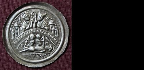 Brakteát stříbro 999 | Johann von Merseburg (1151-1170) Německo | replika mince