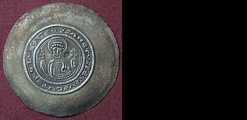 Brakteát stříbro 999 | Heinrich der Löwe (1135) Německo | replika mince