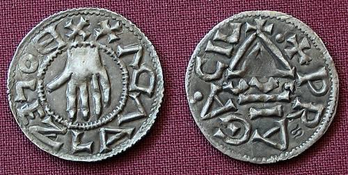 Denár stříbro 999 | Boleslav I. (935-972) Čechy | replika mince
