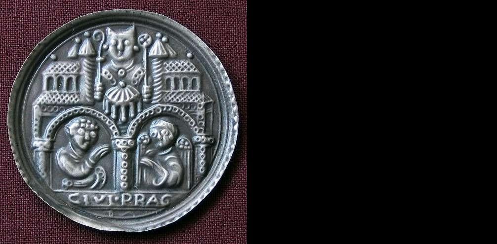 Medaile stříbro 999 | Pražský brakteát ()  |