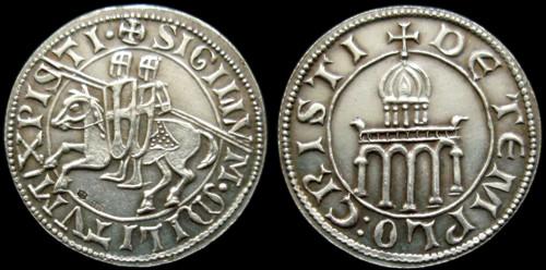 Žeton stříbro 999 | Templářský denár ()  |