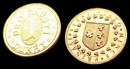 Žeton mosaz | Dukát pro štěstí, mince pro štěstí ()  |