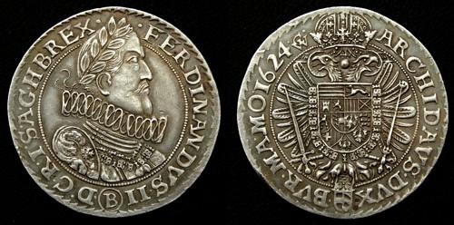 Tolar stříbro 999 | Ferdinand II. (1619-1637) Morava – Brno | replika mince