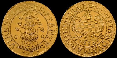 5dukát zlato 999 | Moravské evangelické stavy (1620-1621) Morava – Olomouc | replika mince