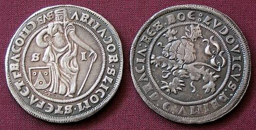 Půltolar stříbro 999 | Šlikové (1520) Čechy | replika mince