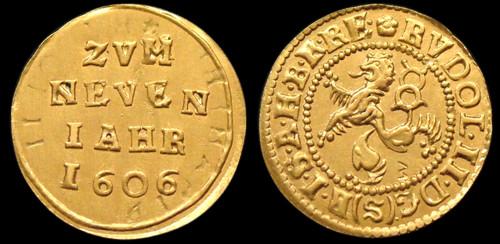 Malý groš zlato 999 | Rudolf II. (1576-1611) Čechy | replika mince
