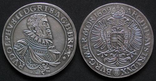 Tolar stříbro 999 | Rudolf II. (1576-1611) Čechy | replika mince