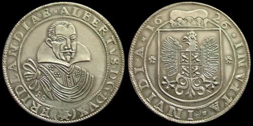 Tolar stříbro 999 | Albrecht z Valdštejna (1625-1634) Čechy | replika mince