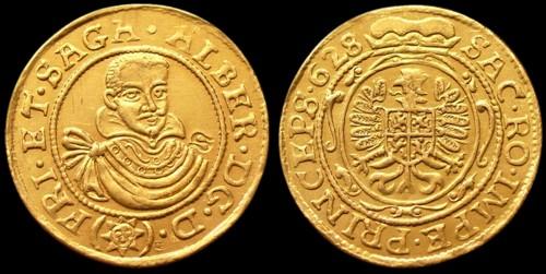 Dukát zlato 999 | Albrecht z Valdštejna (1625-1634) Čechy | replika mince