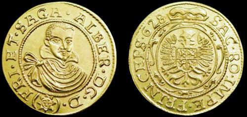 Dukát mosaz | Albrecht z Valdštejna (1625-1634) Čechy | replika mince