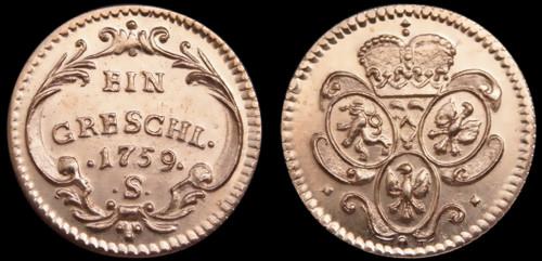 Grešle, Grešlička měď | Marie Terezie (1740-1780) Čechy | replika mince