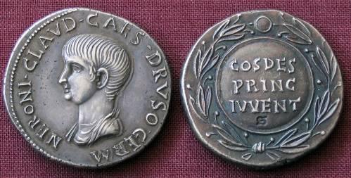 Cistoforus stříbro 999 | Nero (54-68 po Kr.) Řím | replika mince