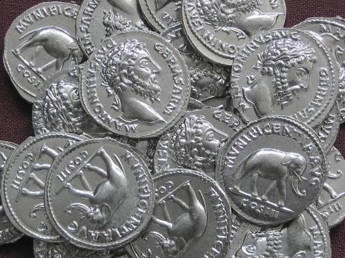 Denár cín | Markus Aurelius (161-180 po Kr.) Řím | replika mince