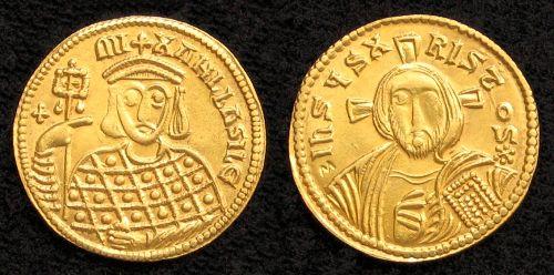 Solidus zlato 999 | Michal III. (842-867 po Kr.) Byzanc | replika mince