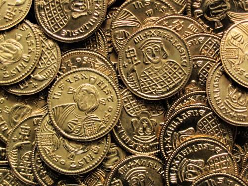 Solidus mosaz | Michal III. (842-867 po Kr.) Byzanc | replika mince