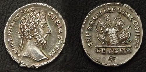 Denár stříbro 999 | Markus Aurelius (161-180 po Kr.) Řím | replika mince