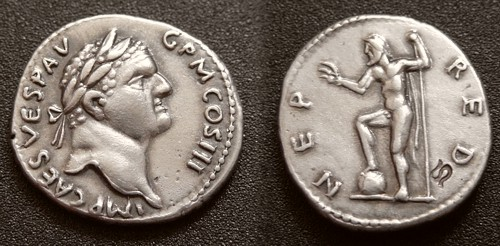Denár stříbro 999 | Vespasian (69-79 po Kr.) Řím | replika mince