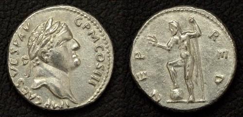 Denár cín | Vespasian (69-79 po Kr.) Řím | replika mince