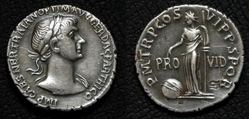 Denár stříbro 999 | Trajan (98-117 po Kr.) Řím | replika mince