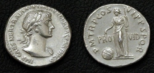 Denár cín | Trajan (98-117 po Kr.) Řím | replika mince