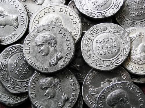 Cistoforus cín | Nero (54-68 po Kr.) Řím | replika mince