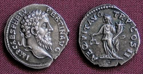 Denár stříbro 999 | Pertinax (193 po Kr.) Řím | replika mince