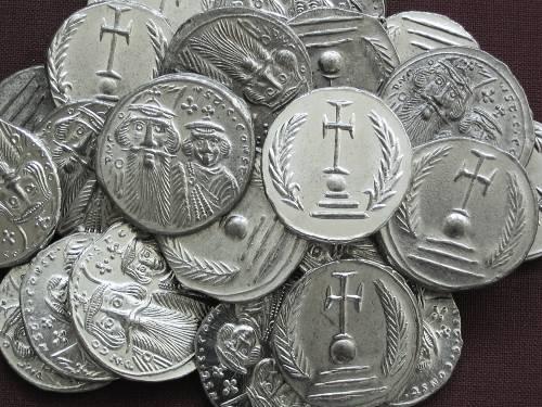 Miliarense cín | Konstans II. a Konstantin IV. (641-668 po Kr.) Byzanc | replika mince