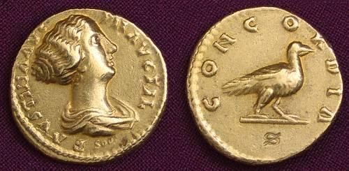 Aureus zlato 999 | Faustina ml. (161-175 po Kr.) Řím | replika mince