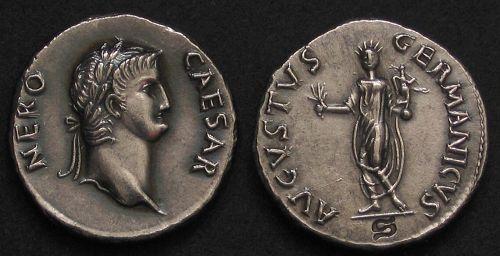 Denár stříbro 999 | Nero (54-68 po Kr.) Řím | replika mince