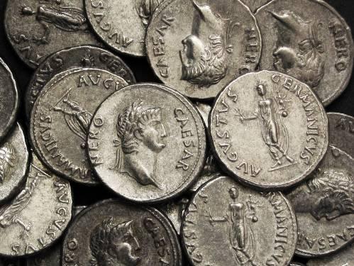 Denár cín | Nero (54-68 po Kr.) Řím | replika mince